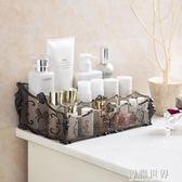梳妝台透明化妝品收納盒 桌面塑膠多格整理盒護膚品置物架 智聯世界
