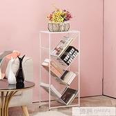 鐵藝多層簡易書架收納置物架簡約現代落地兒童學生書櫃樹形書架子  4.4超級品牌日 YTL