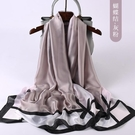 絲綢輕薄款絲巾女方巾...