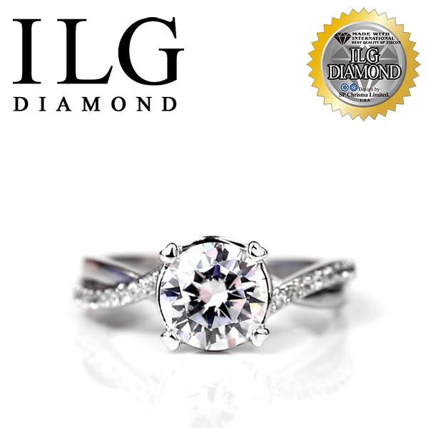 【頂級美國ILG鑽飾】頂級八心八箭鑽石戒指- 1.25克拉Best Love RI077