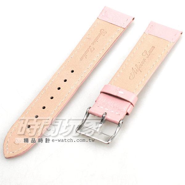20mm錶帶 真皮錶帶 粉紅色 錶帶 KE粉紅車素20