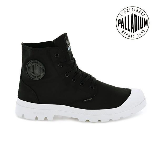 【南紡購物中心】【PALLADIUM】PAMPA PUDDLE LITE+WP 輕量雨傘布防水靴 / 黑白 男女鞋