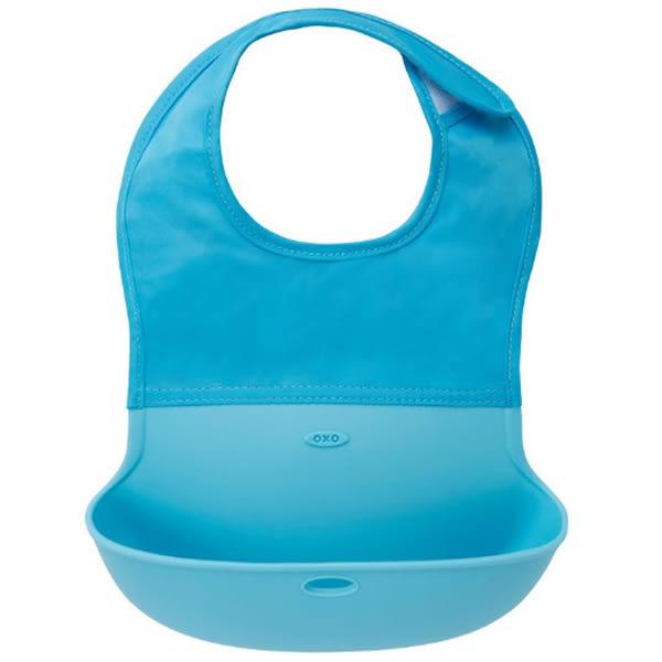 美國 OXO tot 攜帶式圍兜-藍色