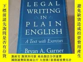 二手書博民逛書店Legal罕見Writing in Plain English:A Text With ExercisesY1