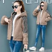 快速出貨 外套羊羔毛短款外套女裝媽媽夾克寬鬆韓版小個子加絨外套【2021新年鉅惠】