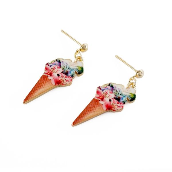 午茶異想曲-冰淇淋耳環