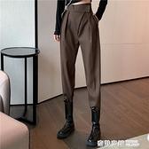 西裝褲女直筒寬鬆褲子秋冬新款高腰顯瘦哈倫褲百搭休閒褲潮 奇妙商鋪