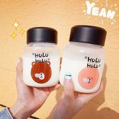 水杯  韓國新款夏季可愛卡通小熊小兔子透明迷你玻璃杯軟妹情侶學生水杯