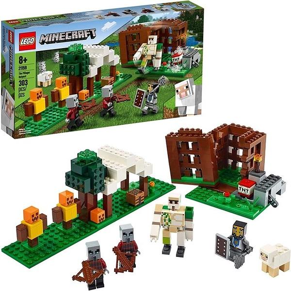 LEGO 樂高 Minecraft The Pillager Outpost 21159真人版可動人偶磚砌 (303件)