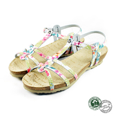 【Panama Jack】Dori扣帶平底涼鞋 碎花(PSW45-BLW)