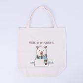 溫暖圍巾熊環保袋-生活工場