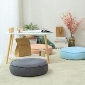 亞麻蒲團懶人沙發單人圓形布藝地板打坐日式陽臺飄窗榻榻米坐墊