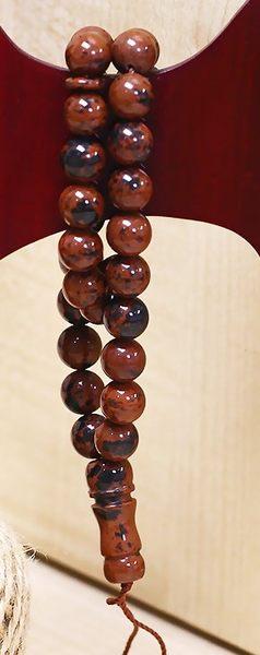 [協貿國際]天然金絲紅曜石33顆念珠單個價