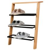 原木日式和風白橡木實木三層鞋架wz001