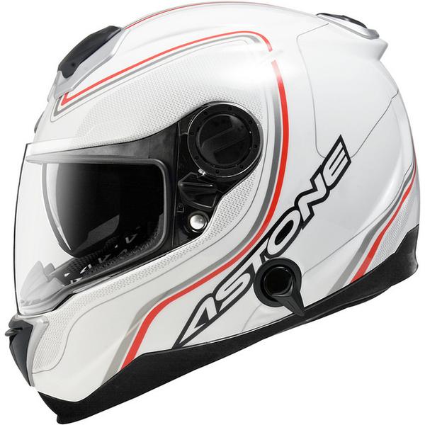 【東門城】ASTONE GT1000F AC2 (白紅) 碳纖維全罩式安全帽
