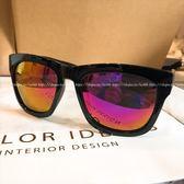 現貨-新款亮黑色紫水銀復古方框墨鏡墨鏡大牌明星韓國行超黑太陽鏡潮抗UV400 台灣製檢驗合格 20