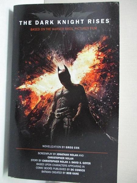 【書寶二手書T7/原文小說_CVL】The Dark Knight Rises_Cox, Greg