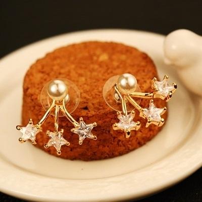 耳環 玫瑰金純銀鑲鑽-美麗可愛生日情人節禮物女飾品73ca160【時尚巴黎】