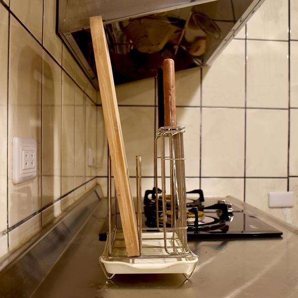菜刀砧板架 桌上型 放置架 收納架 置物架 瀝水架 瀝水籃 阿仁304不鏽鋼 台灣製造