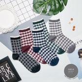 正韓直送【K0424】韓國襪子 花邊格紋中筒襪 韓妞必備長襪 阿華有事嗎