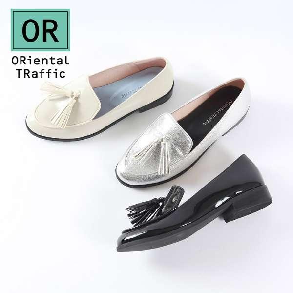 【ORiental TRaffic】經典流蘇綴飾樂福鞋-清新米