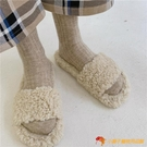 羊毛襪子女秋冬加厚保暖素色日系中筒襪堆堆襪【小獅子】