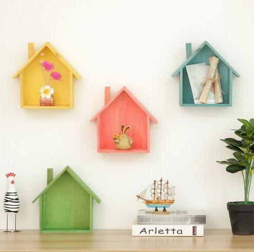 zakka復古實木墻面裝飾壁掛置物架木盒子 多功能玄關鑰匙收納盒 茱莉亞嚴選