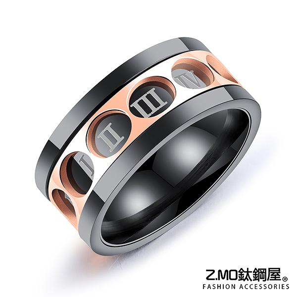 316L鈦鋼戒指 可旋轉羅馬數字 單品推薦 時尚百搭 整體造型搭配推薦 單個價【BKS566】Z.MO鈦鋼屋