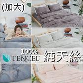 『多款任選』奧地利100%TENCEL涼感純天絲6尺雙人加大床包枕套三件組(不含被套)床單 床套 床巾