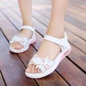 兒童涼鞋平底女童涼鞋2019夏季新款韓版大童真皮小學生女孩公主鞋