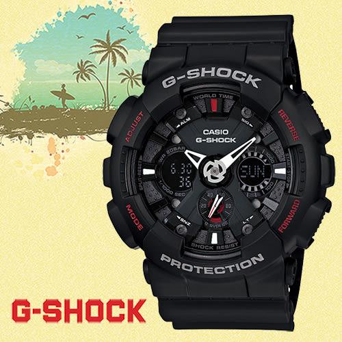 【僾瑪精品】G-SHOCK 運動時尚藍芽男用腕錶/GA-120-1A/51mm/防水/防撞/當兵