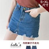 LULUS-Y-抽鬚下擺刷破牛仔褲裙S-XL-2色  現+預【04070213】