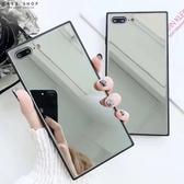 Free Shop 蘋果 iPhone X/XS/XR/XS MAX/8/7/6 簡約創意鏡子鏡面鋼化玻璃防摔手機殼【QCNP30167】