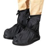 黑白成人男女情侶防雨鞋套低筒加厚耐磨鞋底防滑防水套
