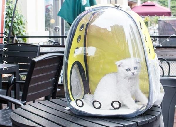 寵物外出包貓包外出籠子便攜太空貓咪艙手提裝包袋大號透明後背書包寵物背包 尾牙交換禮物