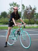 死飛自行車公路賽車活飛單車倒剎車實心胎成人男女學生熒光整車igo   良品鋪子