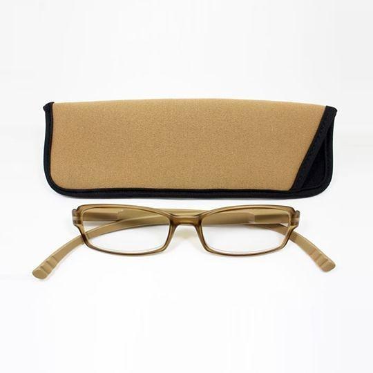 日本專利設計老花眼鏡 Neck Readers (大地米色) 可濾藍光、抗紫外線【S Life 若返生活】