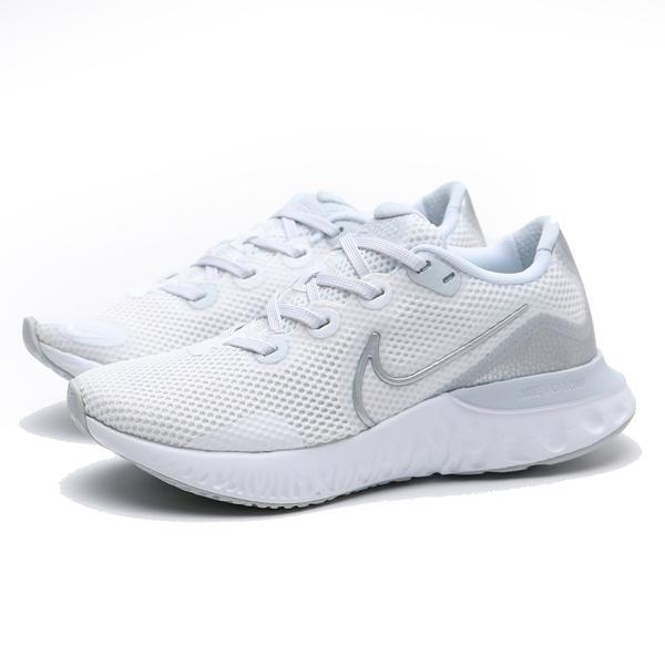 NIKE 慢跑鞋 WMNS RENEW RUN 白銀 網布 運動 健身 女 (布魯克林) CK6360-003