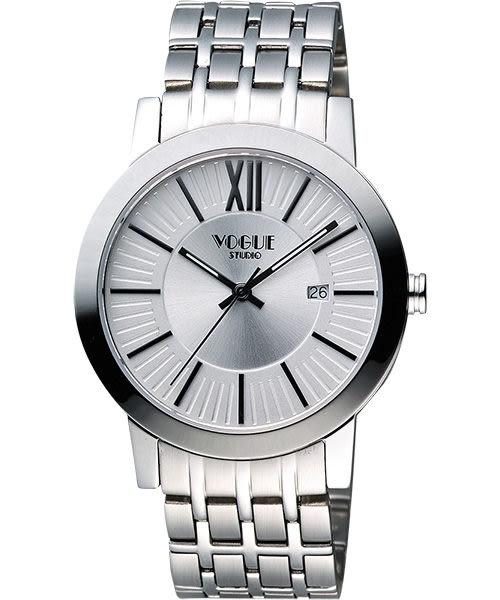 VOGUE 尊爵時尚羅馬女錶-銀 2V1407-131S-S