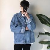 原宿風bf寬鬆夾克秋季男牛仔外套韓版潮流青少年韓國上衣  免運快速出貨