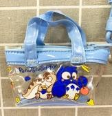 【震撼精品百貨】Patapatapeppy Sanrio 貓頭鷹~三麗鷗貓頭鷹防水拉鍊零錢包-藍#76474