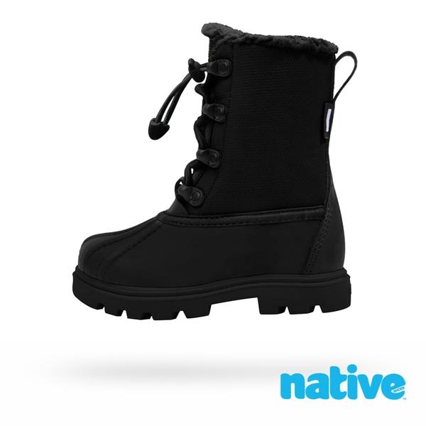 native 大童鞋 JIMMY 3.0 小獵鴨靴-時尚黑