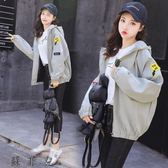 2018秋裝韓版新款學生寬松原宿風bf中長款棒球外套外套女裝夾克上衣