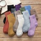 秋冬季襪子女日系中筒加厚款加絨保暖冬天羊...