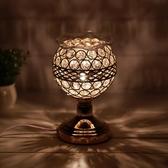 養生助眠水晶珠家用室內香薰燈會所插電臥室臺燈精油燈熏香爐香燈