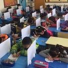 學生課桌考試擋板隔斷專用擋板辦公桌面屏風...
