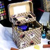 大容量化妝箱化妝品收納包防水韓國便攜手提化妝包盒專業多雙層  易貨居