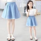 女童短裙 牛仔裙短裙2021新款夏裝半身裙兒童薄款大童洋氣夏季裙子夏天【快速出貨】
