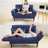 現代懶人沙發床小戶型可折疊客廳雙人榻榻米兩用布藝休閑椅子