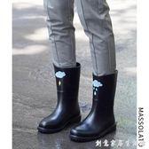 雨鞋女韓國可愛水鞋中筒秋冬時尚防水鞋套鞋防滑膠鞋戶外成人雨靴 創意家居生活館